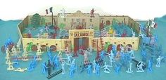 Tin Litho 170 Piece Alamo Plyaset by Classic Toy Soldiers, Inc. $149.95. Includes Complete Tin Litho Fort. 170 Piece Tim Litho Alamo Playset. Because of size set can not be sent by US mail. Plus 30 Texans and over 60 Mexicans Soldiers. Set includes 4 cannon, flags, accessories, horses and much more.. Complete Playset recreating the Battle of The Alamo.
