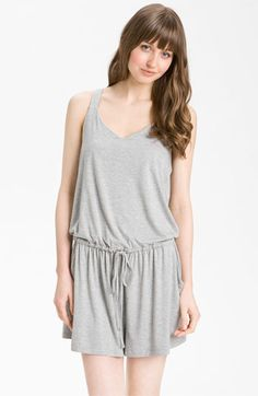 Caslon® Crossover Back Stripe Romper available at #Nordstrom