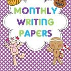 10 writing papers for the months of Jan Feb Mar Apr May Aug Sept Oct Nov Dec Enjoy! Kindergarten Writing, Teaching Writing, Writing Help, Writing Papers, Writing Prompts, Handwriting Ideas, School Calendar, Teaching Language Arts, English Writing