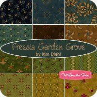 Freesia Garden Grove Fat Quarter Bundle Kim Diehl for Henry Glass Fabrics