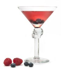 """BARE BONES POMEGRANATE COCKTAIL   LIGHT-HEADED """"LOW-CARB""""  1.5 oz Crystal Head Vodka  0.5 oz pomegranate juice  0.5 oz fresh lemon juice  METHOD  Combine all ingredients into a shaker with ice.   Shake well, then strain into a martini glass.  GARNISH  Fresh berries"""