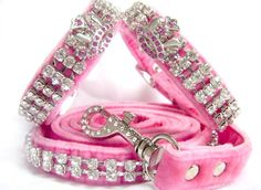 For the Dog:  Pink Dog Collar and Leash #UPSHappy #NotABox