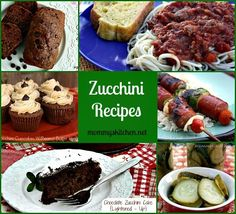 Mommy's Kitchen: Zucchini Recipes {National Zucchini Day}. Are you up to your elbows in Zucchini? Try out some of these sweet, savory and delicious recipes.