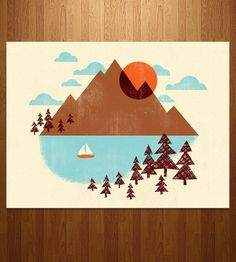 Summer Art Print | If you can't run away to the mountains just yet, looking at th... | Posters