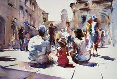 Watercolour курс с Тревором Lingard, Англия