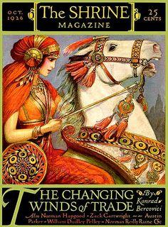 Vintage Magazine - October 1926 - The Shrine Magazine Old Magazines, Vintage Magazines, Vintage Ephemera, Vintage Ads, Art Nouveau, Posters Vintage, Magazine Art, Magazine Covers, Poster Ads