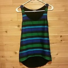 Dressy Tank Top Cute striped tank. Worn a couple of times to work. Great for the office with a blazer and then going out! Express Tops Tank Tops