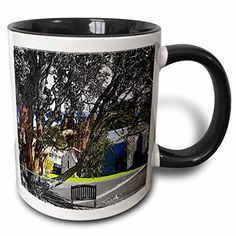 Jos Fauxtographee Realistic - St. Pauls AnglicOld Rock Church in New Zealand Outside with Bench in Front and Magnificent Tree - 11oz Two-Tone Black Mug (mug_49556_4) 3dRose http://www.amazon.com/dp/B013528LXW/ref=cm_sw_r_pi_dp_tuuXwb040JCR7