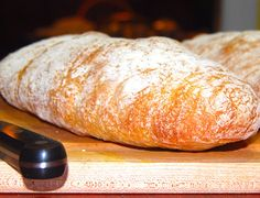 Quick crusty airy delicious Ciabatta loaves