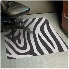 Fun Funky chair mat. Awesome ion an all white room! http://www.shoplet.com/ES-Robbins-Design-Chair-Mat/ESR118771/spdv