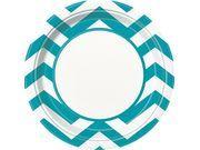 "#Party #Supplies #Unique_Industries #shopping #sofiprice Round Plates 9"" 8/Pkg-Caribbean Teal Chevron - https://sofiprice.com/product/round-plates-9-8-pkg-caribbean-teal-chevron-172895385.html"
