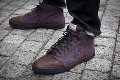 These must be limited edition...or super awesome | Nike Harris Tweed – Plum