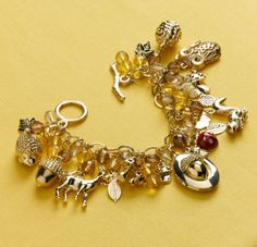 Learn how to create this charm bracelet made from the Martha Stewart Crafts Jewelry line at Michaels #marthastewartcrafts