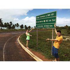 Chegamos na esquina do Brasil !! Km 0 Da Br101 by felenox