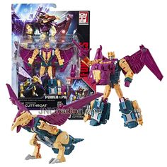 Year 2017 Transformers Generations Power of the Primes Series Deluxe Class 6 Inch Tall Figure - Terrorcon CUTTHROAT with Blaster, Prime Armor and Collector Card (Beast Mode: Hawk) Spiderman Action Figure, Transformers Action Figures, Transformers Robots, Collector Cards, The Collector, Transformers Collection, Prehistoric Creatures, Thundercats, Boba Fett