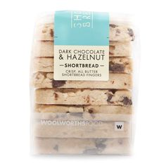 Dark Chocolate & Hazelnuts Shortbread 220g | Woolworths.co.za