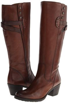 Clarks Women's Maymie Stellar Riding Boot,Cognac M US Heeled Boots, Bootie Boots, Shoe Boots, Clarks Shoes Women, Stylish Winter Boots, Tall Boots, Beautiful Shoes, Cute Shoes, Fashion Boots