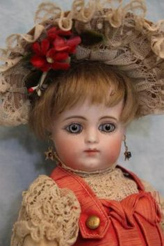 Antique-10-034-French-F-1-G-Bebe-Gaultier-Doll-Orig-dress-shoes-8-Ball-Joint-Body