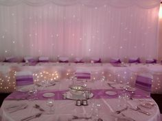 QualityTwinkle Backdrop and Top Table Skirt £200 delivered, erected and collected anywhere in the North East