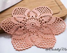 Peach doily, Round crochet doily, Mini doily, Handmade doily, crochet item, crochet lace doily, Wedding decoration, handmade gift