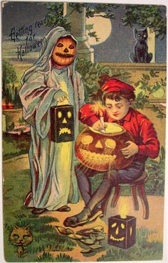 https://flic.kr/p/7Ake4u | Vintage Halloween Postcard