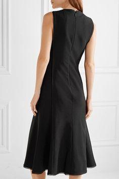 Jason Wu - Chiffon-trimmed Stretch-crepe Dress - Black - US4