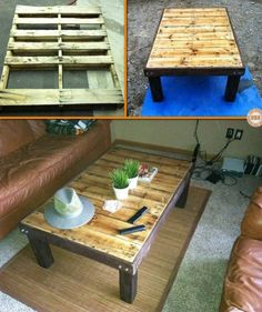 Give old pallets new life by turning them into a DIY coffee table! Learn how they're made by viewing the full album of the project at http://theownerbuildernetwork.co/20rz Could this be your next project with pallets?
