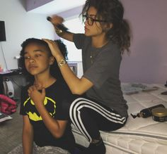 zendaya: Auntie Daya duties, washing sheets, forcing them to talk to me about their life (cause I'm supposed to be the cool auntie), do their hair...the usual @/chihaircare #realisbeautiful