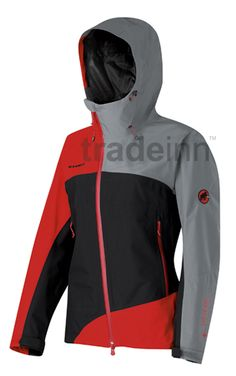 Mammut Erebus Goretex Jacket Inferno Woman in black inferno. Trekking Gear, Gore Tex Jacket, Jackets For Women, Clothes For Women, Outdoor Outfit, Ladies Fashion, Womens Fashion, Motorcycle Jacket, Menswear