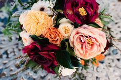 Vibrant and eclectric bridal bouquet