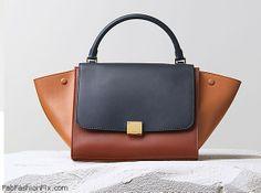 Celine Trapeze handbag navy blue and multicolor calfskin