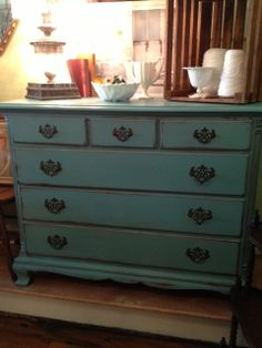 Shabby Chic Cottage Painted Antique Chest of Drawers by TessHome, $595.00