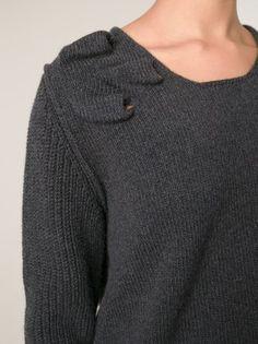 Lanvin raised shoulder detail sweater