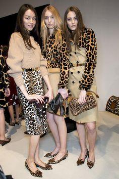 Animal instinct at Burberry! #FreshPrints #Leopard