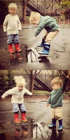 puddle jumping in style