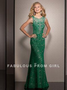 Sheath / Column Beading Lace Prom Dresses / Evening Dresses - FabulousPromGirl.com