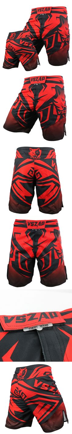 VSZAP  Shorts  Without Rules Boxer Shorts Muay Thai Clothing Short Mma Sanda Breathable Cotton Loose