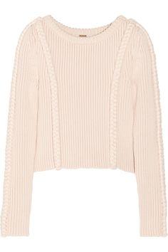 Adam LippesCropped chunky-knit cotton-blend sweaterfront