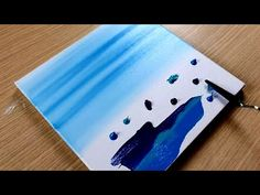 KING ART N 104 ONDE- WAVES- ONDAS- FLOTS- AQUA- ACQUA - YouTube Acrylic Painting Tutorials, Painting Tips, King Art, Acrylic Canvas, Ocean Beach, Art Lessons, Triangle, Artist, Draw