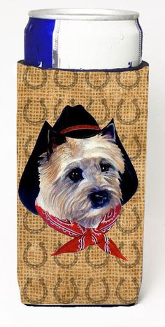 Cairn Terrier Dog Country Lucky Horseshoe Ultra Beverage Insulators for slim cans SP5242MUK