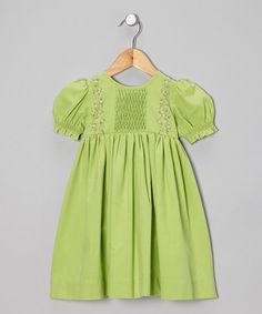 Take a look at this Sweet Dreams Green Rosa Dress - Infant, Toddler & Girls on zulily today!