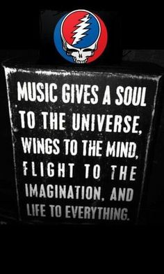 music gives a soul to the universe, wings to the mind, flight to the imagination, and life to everything