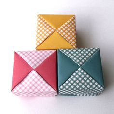 Origami gift boxes #holidaypackaging #christmasgiftwrapping