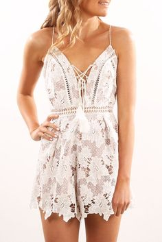 Venice Playsuit White