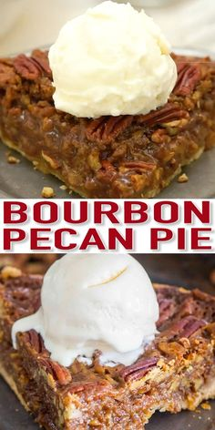 Homemade Pecan Pie with Bourbon [VIDEO] - Sweet and Savory Meals - - Homemade Pecan Pie is unbelievably good and rich. The homemade crust is buttery and the pecan filling has been flavored with bourbon. Tart Recipes, Best Dessert Recipes, Baking Recipes, Holiday Recipes, Baking Hacks, Bread Recipes, Köstliche Desserts, Delicious Desserts, Yummy Food
