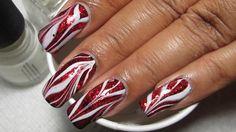 marmor-rot-glitzer-weiss-gemustert-effekt-manikuere-candy
