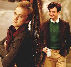 "tom felton & daniel radcliffe I can so see daniel as ""The Doctor"" and tom as…"