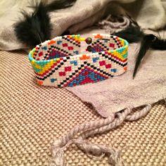 Colorido del grano mexicano telar telar Bead Bracelet