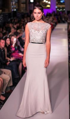 Paolo Sebastian - one of Australia's leading couturiers. A lace dress from his latest 2012 S/S collection.