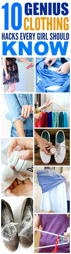 These 10 life changing clothing hacks for spring and warmer weather are THE BEST! I'm so happy I found these AMAZING tips and tricks! Now I know how I can fix my wardrobe and prepare for a new season! Definitely pinning!
